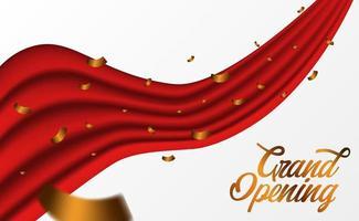 modello di festa di grande cerimonia di apertura con coriandoli dorati