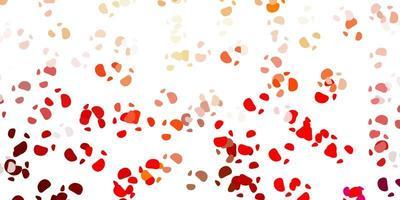 sfondo rosso con forme caotiche. vettore