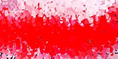 modello rosso con forme astratte.