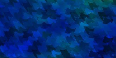 sfondo blu con rettangoli.