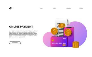 pagina di destinazione dei pagamenti online e-commerce di finanza aziendale