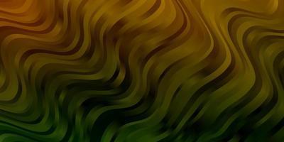 sfondo verde chiaro, giallo con curve.