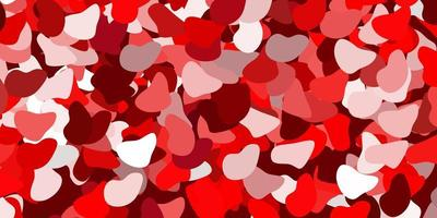 sfondo rosso con forme caotiche.