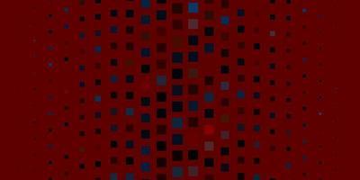 sfondo rosso con rettangoli.