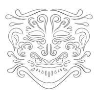 modello etnico. ornamento di bellezza in stile boho.