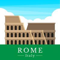 Illustrazione del Colosseo romano vettore