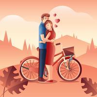 Vettore di persone innamorate