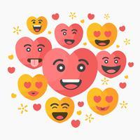 San Valentino Emoticon Vector