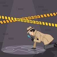 Detective che trova su un indizio