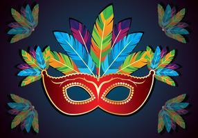 maschera rio carnaval vettore