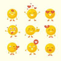 Carino emoji giallo per San Valentino vettore