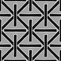 modello di linee incrociate nere, grigie e bianche disegnate a mano vettore