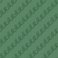 modello di scarabocchio verde disegnato a mano vettore