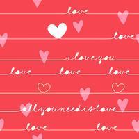amo la cartolina di San Valentino vettore