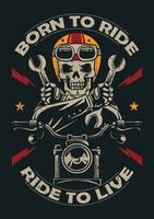 Emblema del motociclo d'epoca vettore