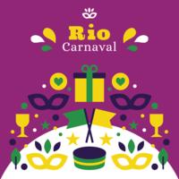 Poster di Rio Carnaval vettore