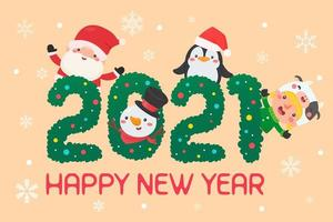 personaggi natalizi nel testo 2021 vettore