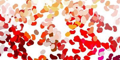 modello rosso chiaro con forme astratte.