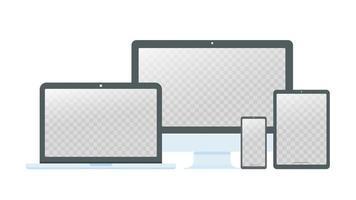 computer desktop, laptop e smartphone vettore