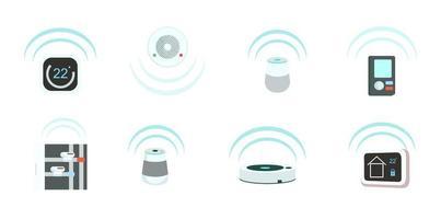set di oggetti di dispositivi intelligenti vettore