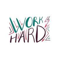 lettering citazione motivazionale vettore