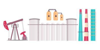 set di oggetti impianto di raffineria