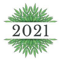 design del nuovo anno 2021 vettore