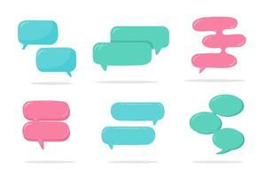 bolle di chat di Internet vettore