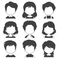 collezione con una grande varietà di avatar vettore