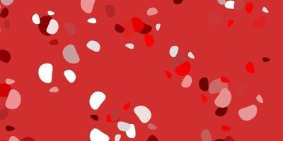 modello rosso chiaro con forme astratte. vettore
