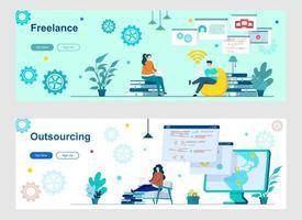 pagine di destinazione freelance e outsourcing con persone