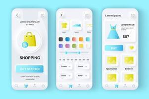 shopping kit di design neumorfico unico