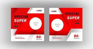 modello di banner post vendita di social media vettore