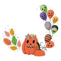 disegno del fumetto della zucca di Halloween