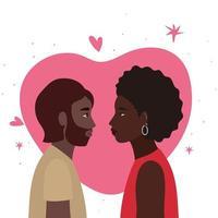 coppia nera di donna e uomo