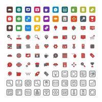 set di icone di ottimizzazione dei motori di ricerca per uso personale e commerciale.