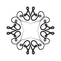 design del telaio ornamento nero vettore