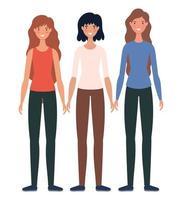 disegno del fumetto di avatar di donne