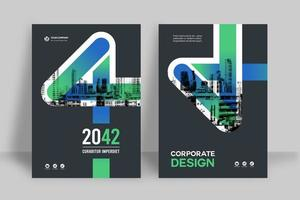 sfondo della città modello di progettazione copertina del libro di affari