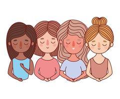 disegno del fumetto di avatar di donne vettore