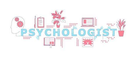 psicologo parola concetti parola banner vettore