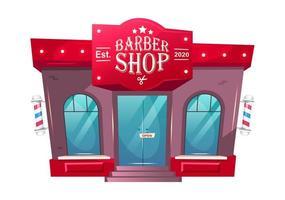 fronte del negozio di barbiere vettore