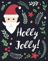 scritte natalizie con babbo natale e decorazioni