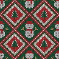 motivo a maglia di Natale