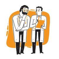 medici in piedi e parlando