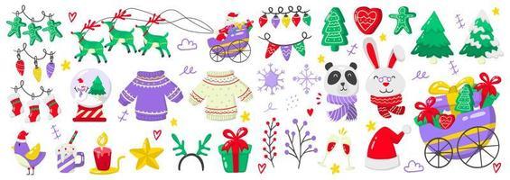 set di elementi di Natale