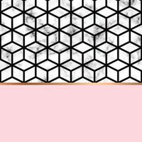 design in marmo con linee geometriche dorate vettore