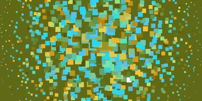 azzurro, layout giallo con linee, rettangoli.