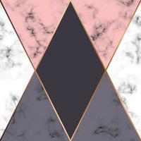 design in marmo con linee geometriche dorate