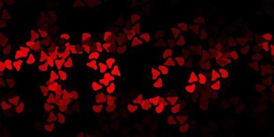 sfondo rosso scuro con forme caotiche.